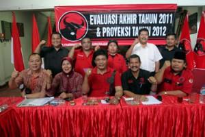 DPD PDI Perjuangan dan Fraksi DPRD Sumut Gelar Evaluasi Akhir Tahun 2011