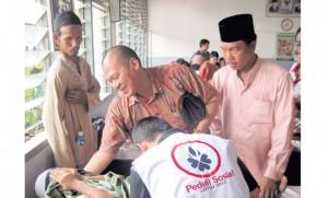 Peringati Haul Bung Karno Satma TMP Bersama PAC PDI P Medan Deli Gelar Khitanan Massal